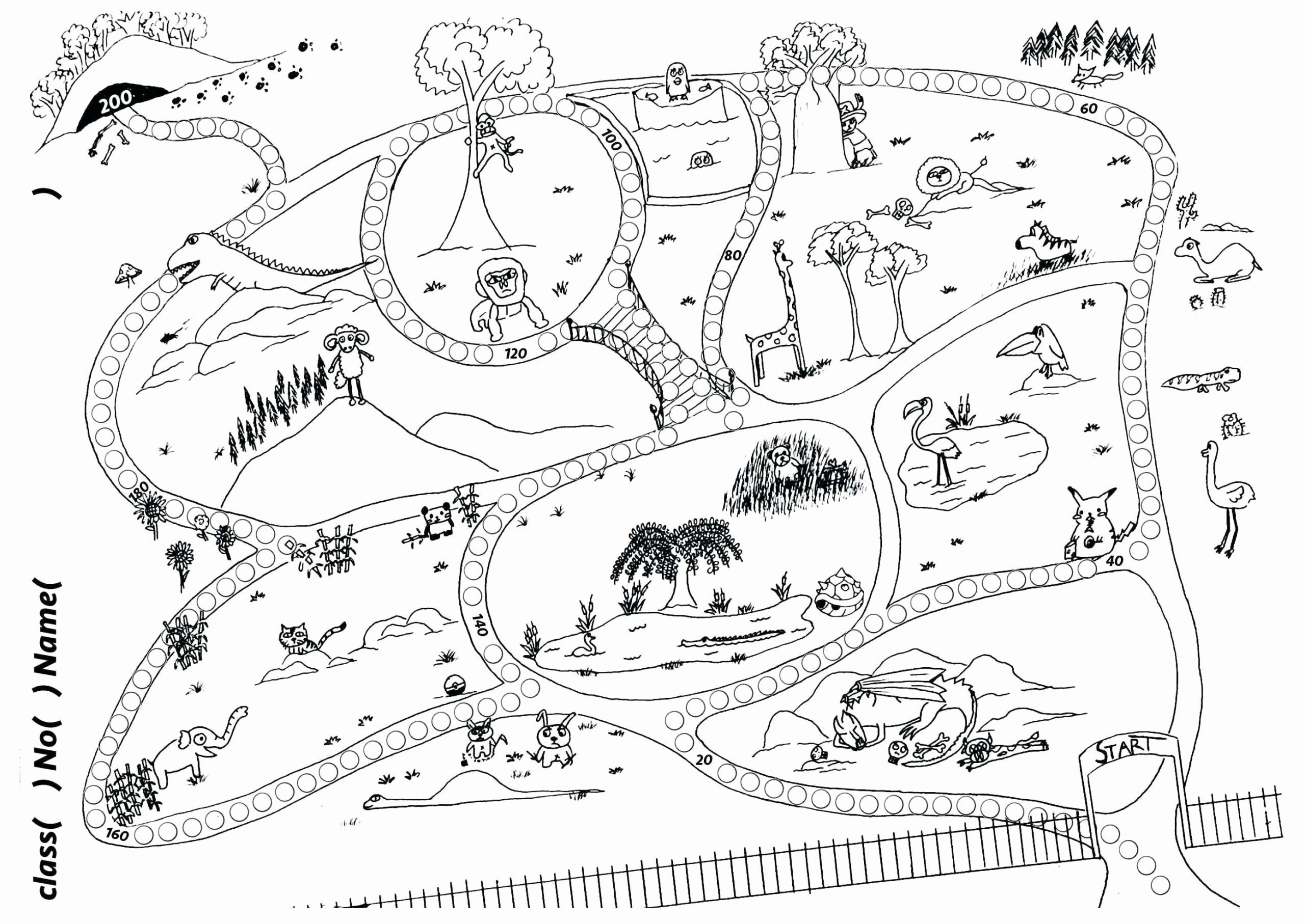 Landforms Coloring Activities Lovely Treasure Map Coloring Pages