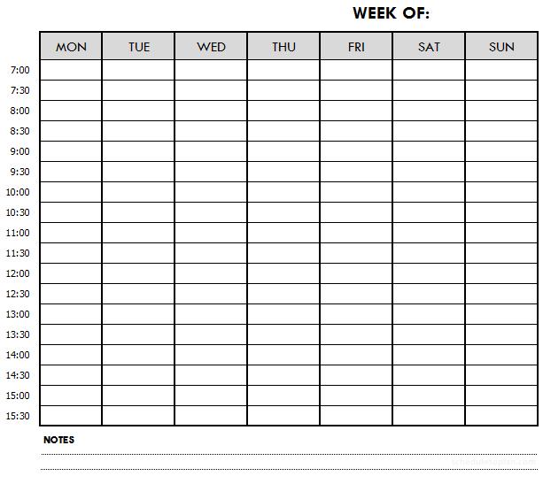 Weekly Schedule Printable Template Customizable Weekly Planner Weekly Schedule Printable Schedule Printable Weekly Schedule