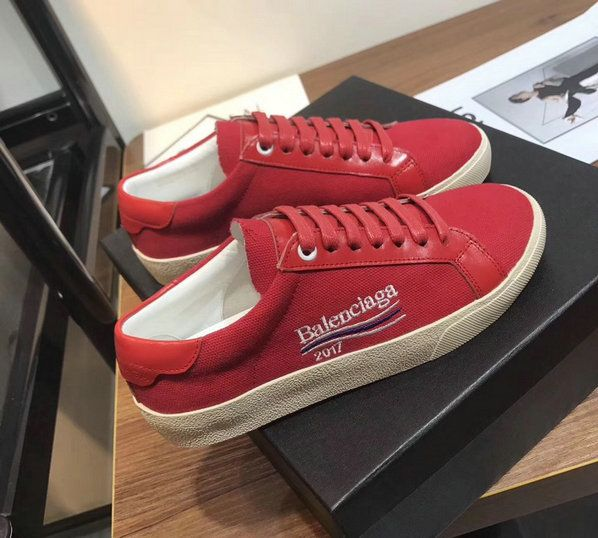 74205319b48e New Balenciaga Low Skate Sneakers Rubber Sole Saint Laurent Slp 2018 Spring  Summer Red