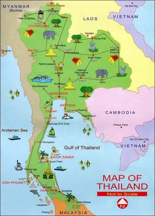 Carte Thailande Tourisme.Epingle Par Pang Wi Sur เท ยว En 2019 Itineraire