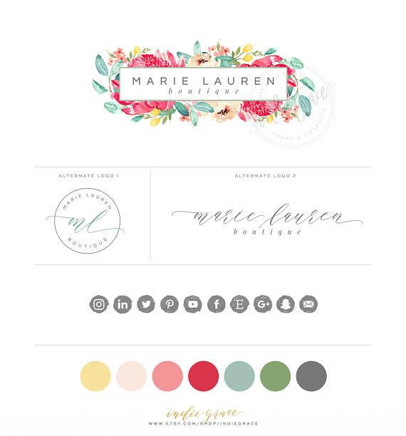 Hey, I found this really awesome Etsy listing at https://www.etsy.com/au/listing/271045678/watercolor-floral-logo-design-branding