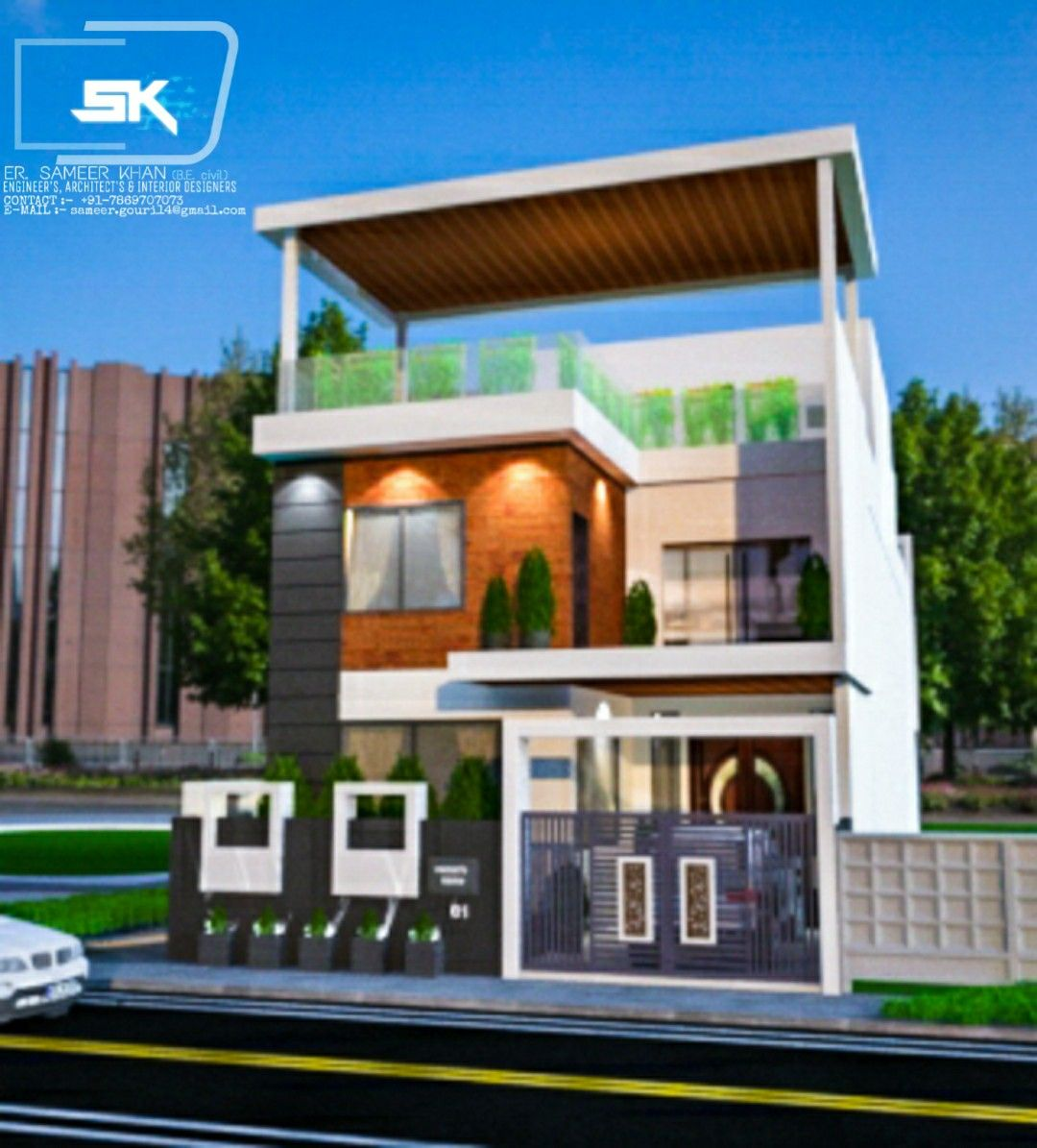 Unique Home Exterior Design: Introducing Modern House Exterior Elevation Of G+1 House