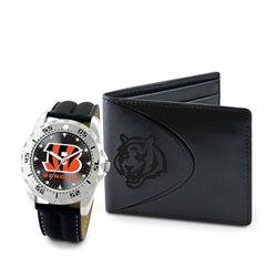 Cincinnati Bengals Men's Wallet & Watch Gift Set