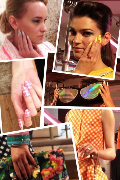 Kate Spade Spring 2013. Manicurist: Deborah Lippmann #nyfw #backstagebeauty #nails