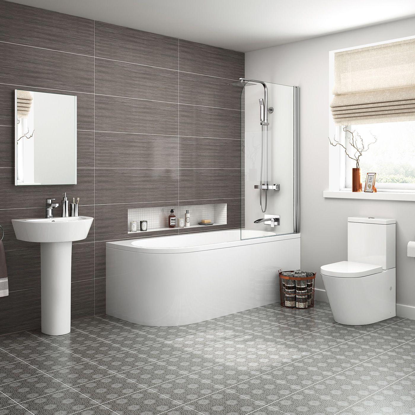 1700mm Lyon Shower Bath Suite Right Hand | Complete bathroom suites ...