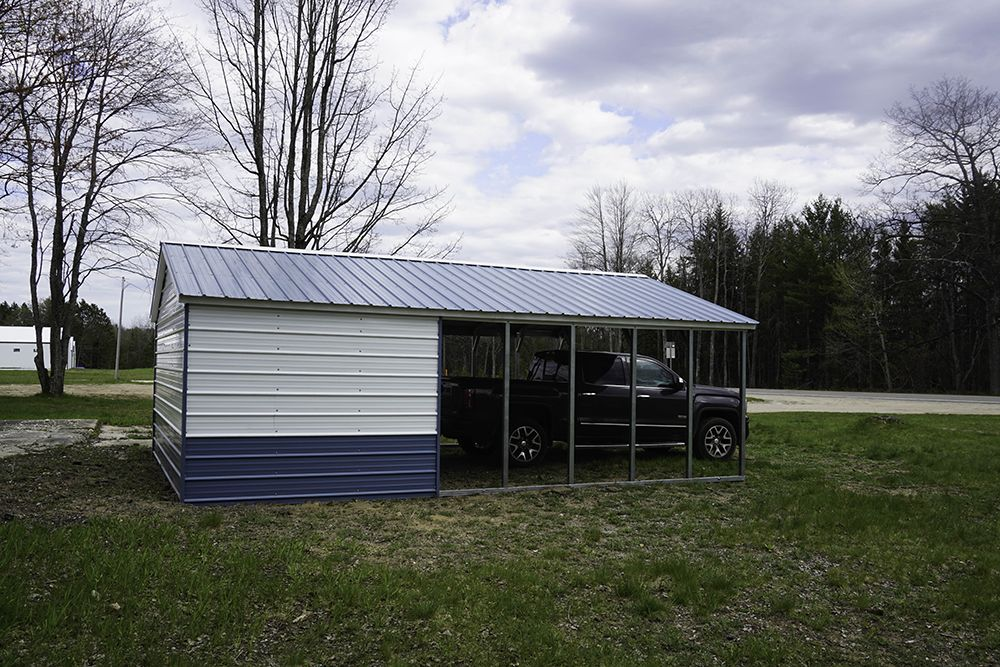 Metal Carport Combined with a Metal Shed Steel carports
