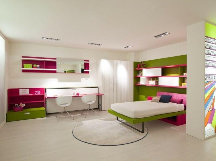 bunte zimmer einrichtung f r m dchen jugendzimmer pinterest m dchen bunt und teenager zimmer. Black Bedroom Furniture Sets. Home Design Ideas