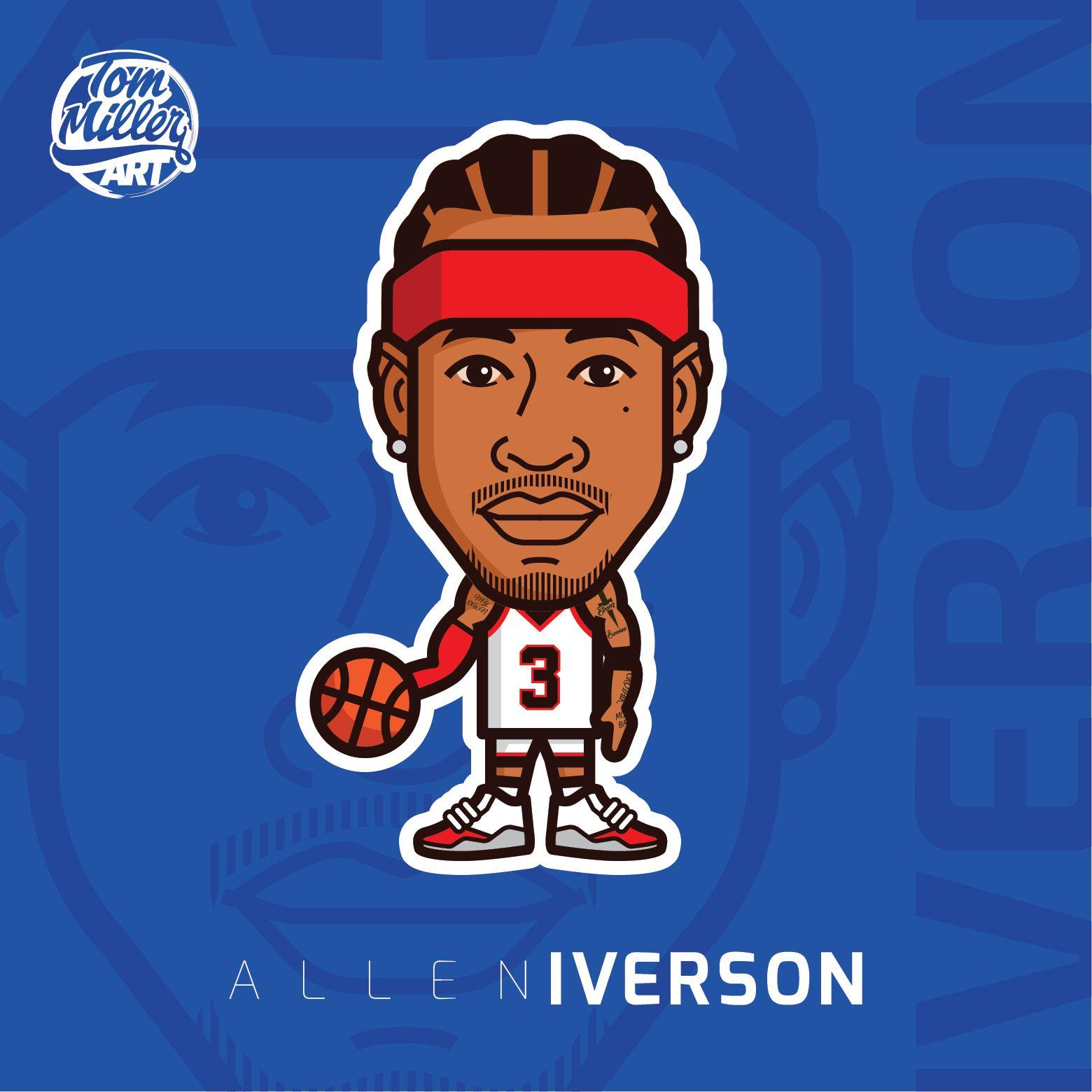 Allen Iverson Cartoon allen iverson alleniverson nba