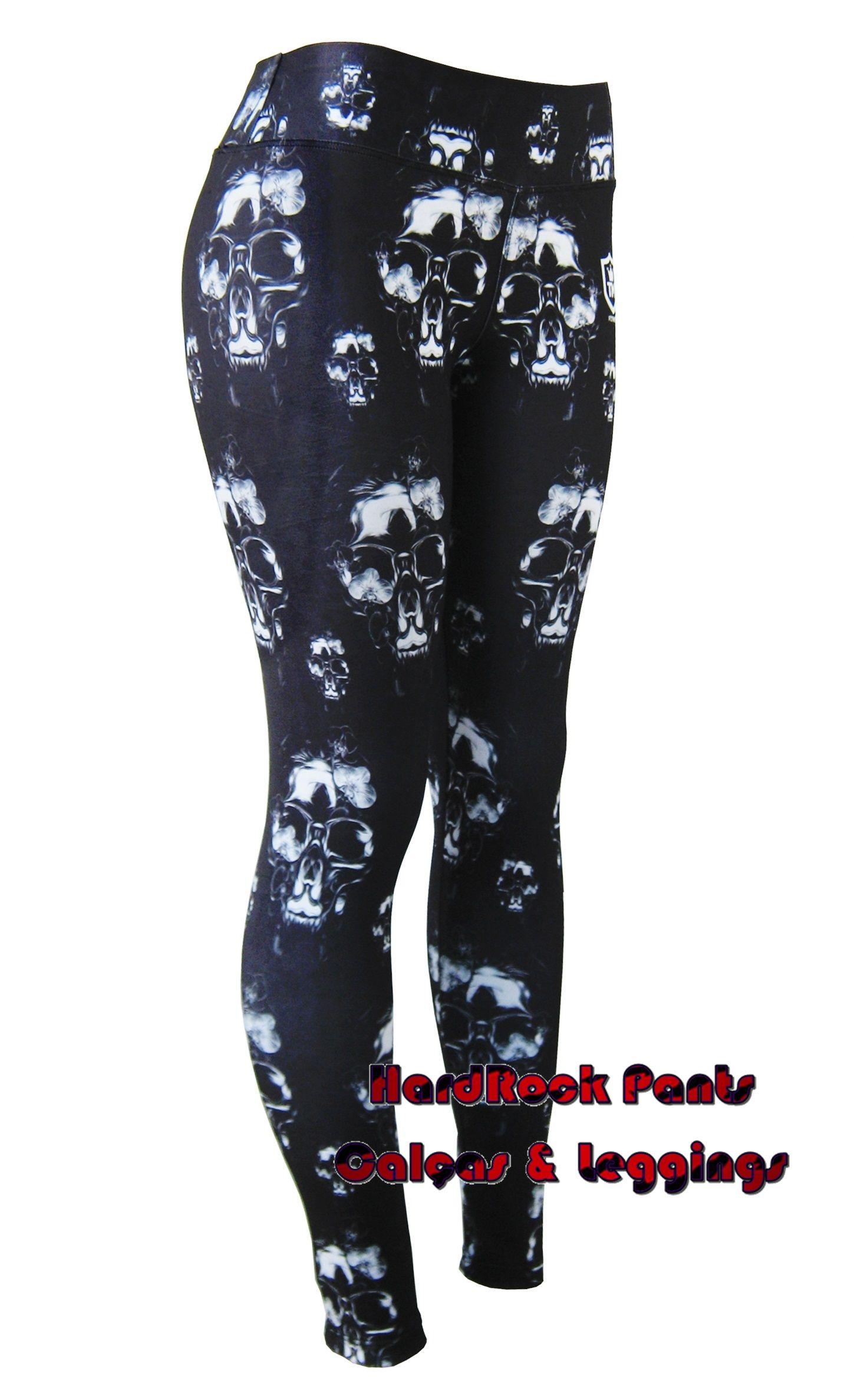 835c3f766 Calça Legging Estampa Caveira Hippie ~ Cintura Alta  calça  legging   estampada  CinturaAlta