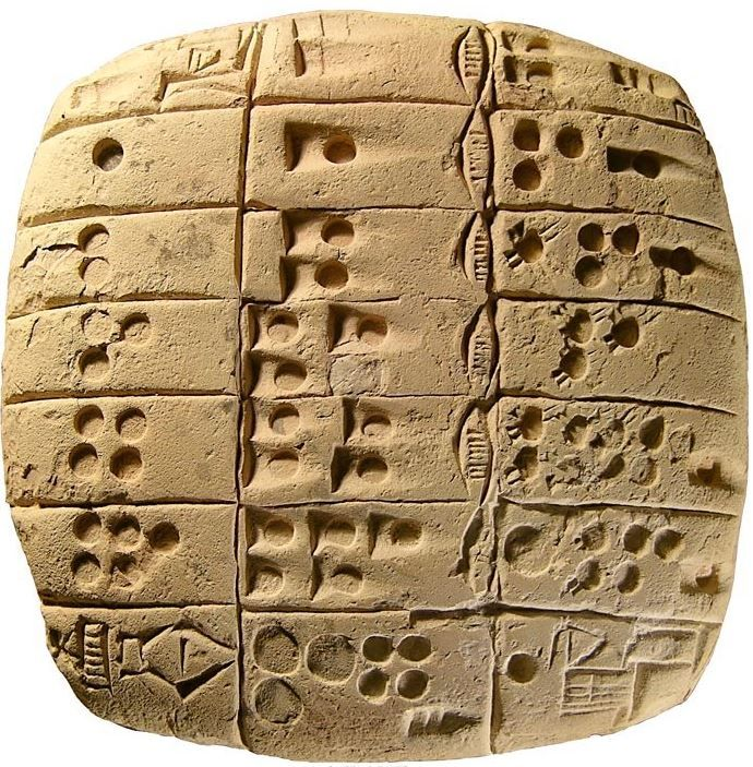 sumerian mathematic tablet 2700 bc probably the oldest