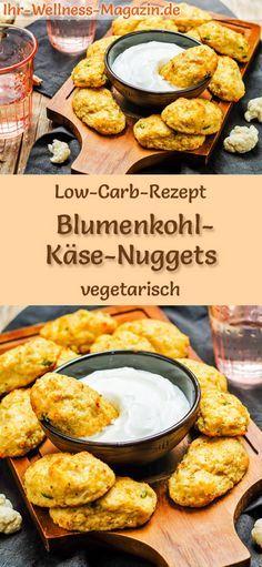 Low Carb Blumenkohl-Käse-Nuggets - gesundes, vegetarisches Hauptgericht
