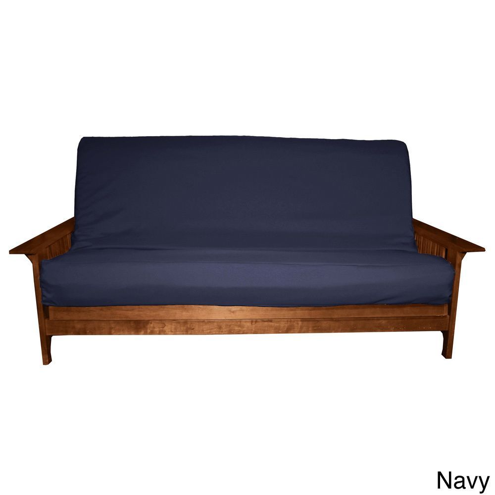 Epicfurnishings Ultima Better Fit Full Size Microfiber Soft Suede Or Twill Cotton Poly Futon Cover Navy Blue To 9 Mattress