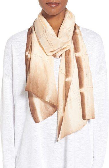 7e5db5e754bca Eileen Fisher Windowpane Shibori Silk Scarf | Scarf Inspiration ...