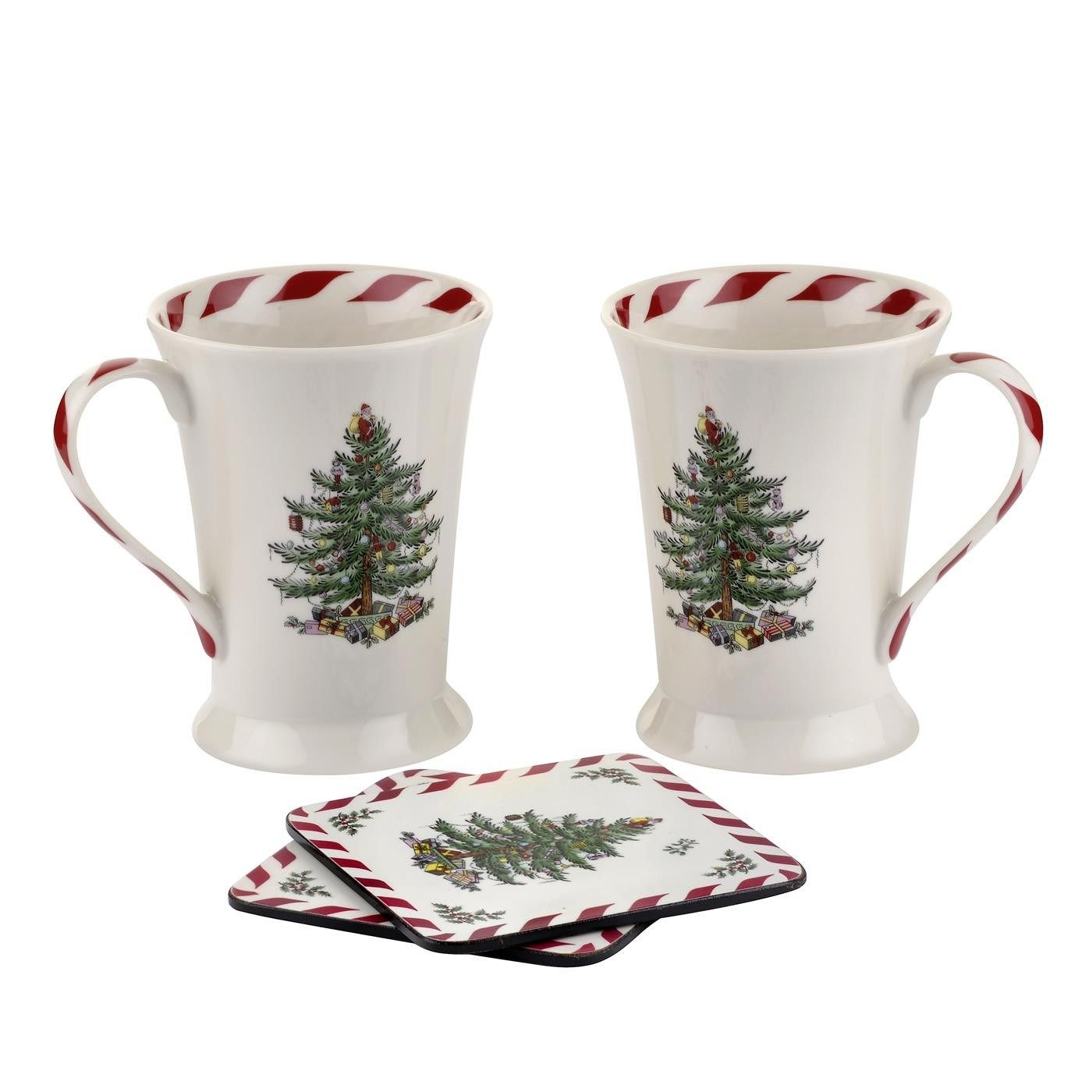 Spode 2011828435 Christmas Tree Pimpernel Peppermint Set