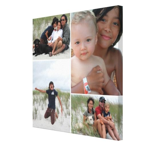 customizable family photo collage canvas print wedding collage