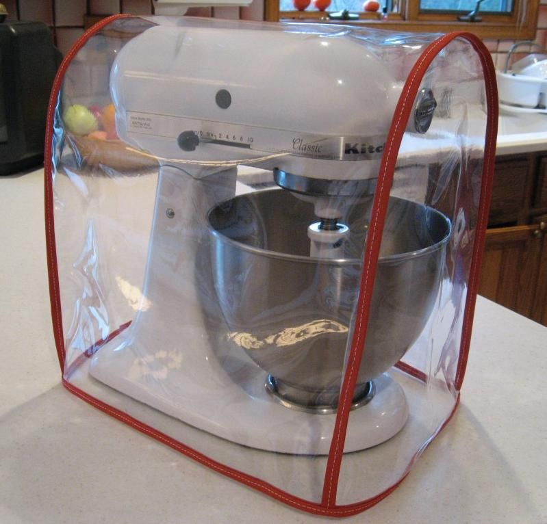 CLEAR MIXER COVER fits KitchenAid Tilt-Head – RED trim (4.5-5 Qt on kamado kooker cover, electric grill cover, time magazine cover, wolf cover, ducane cover, weatherproof grill cover, microsoft cover, tupperware cover, keurig cover, coleman cover, wire food cover, outdoor pool table cover, carrier cover, char-broil classic grill cover, brinkmann trailmaster cover, club car cover, 81 grill cover, tempurpedic cover, 12 x 12 toaster cover, disney cover,