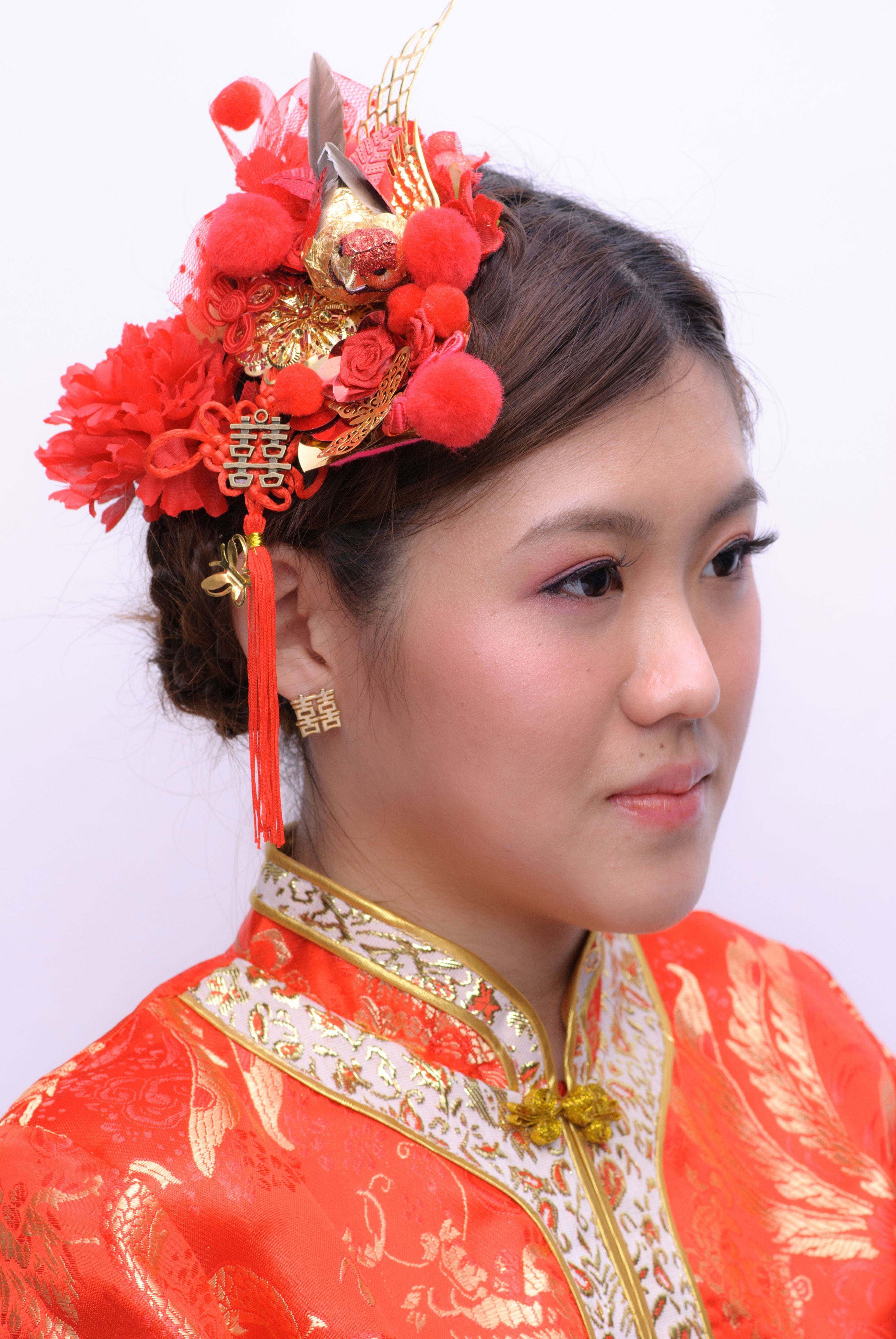 chinese #bridal #hair #hairaccessories #amyaguilera hair and hair