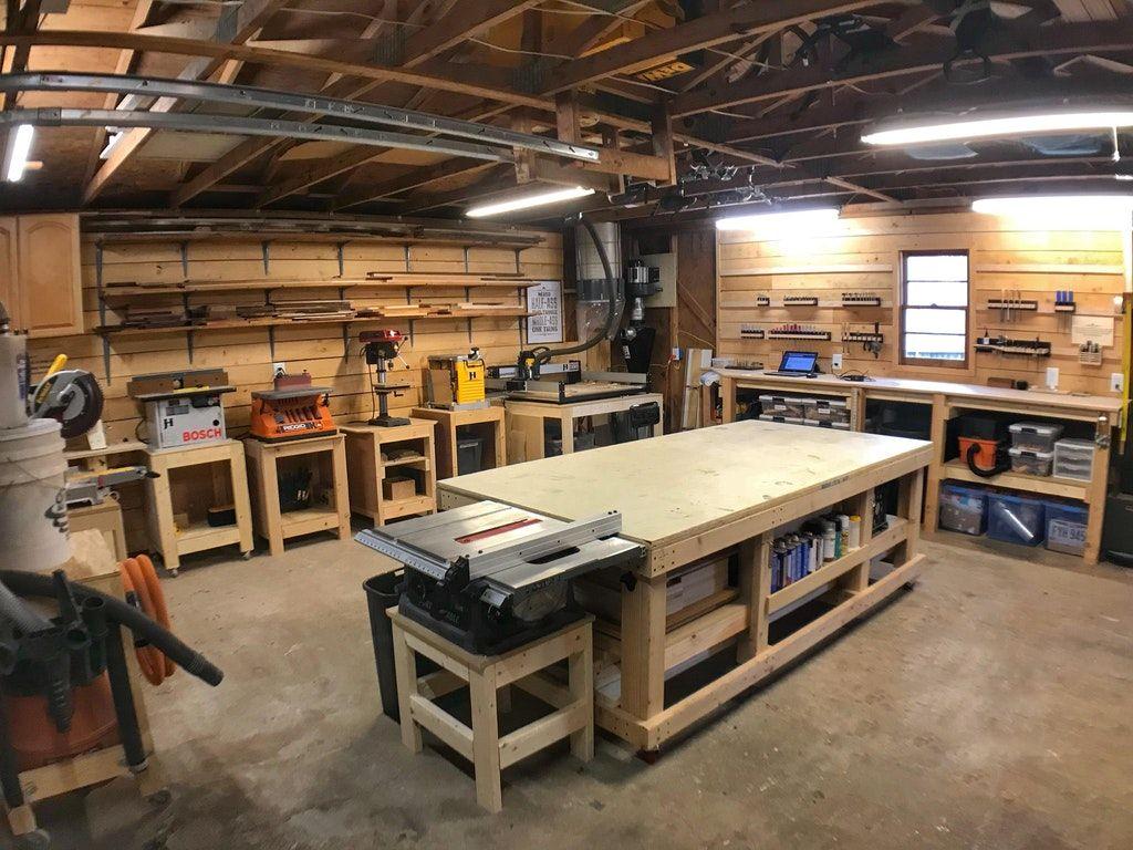 a clean shop is a happy shop. : woodworking | wood shop