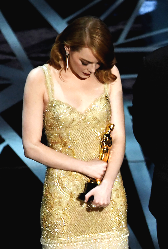 Emma Stone, winner of Best Actress for 'La La Land,' onstage during the 89th Annual Academy Awards at Hollywood & Highland Center on February 26, 2017 in Hollywood, California.