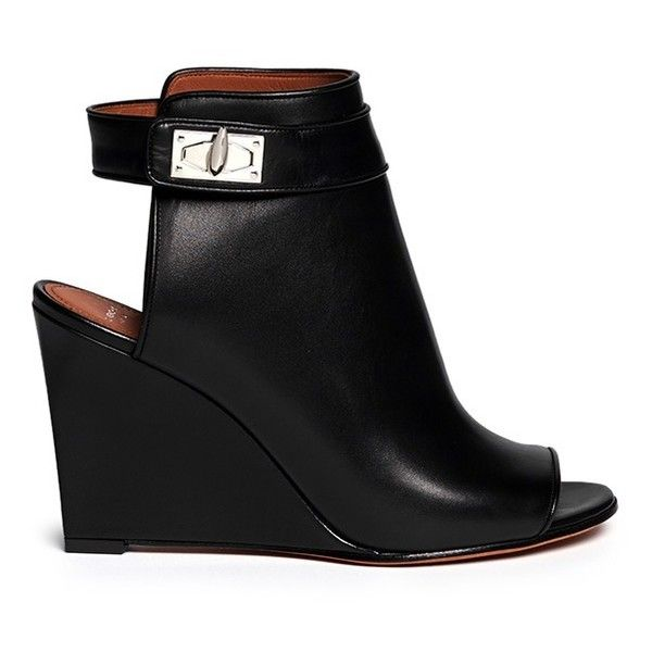 Givenchy Shark tooth turn lock cutout leather boots ( 1