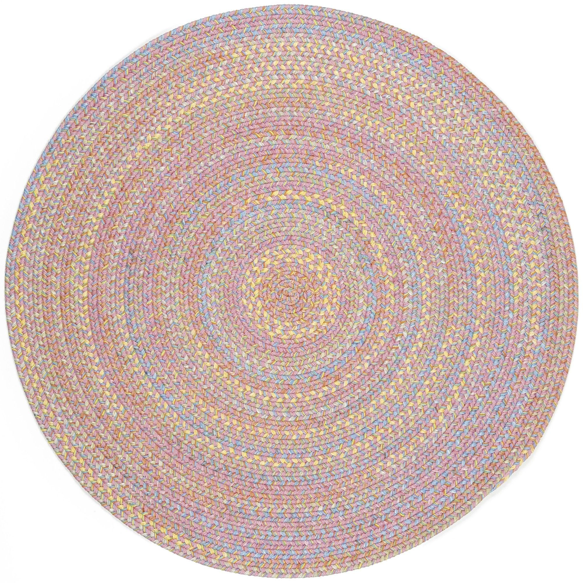Saidpur Pink Indoor Outdoor Area Rug With Images Rhody Rug Area Rugs Round Braided Rug