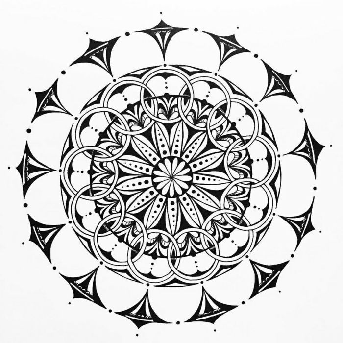 1001 id es et techniques pour faire un mandala art. Black Bedroom Furniture Sets. Home Design Ideas