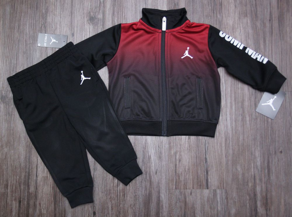 a5f8283d34089e Air Jordan Baby Boy 2 Piece Jogging Set ~ Tracksuit ~ Black   Red ~ Jumpman  ~  Jordan  Tracksuit  JoggingSuit  Jumpman  BabyBoy