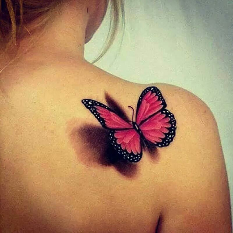 3 D Butterfly Butterfly Tattoos For Women Creative Tattoos