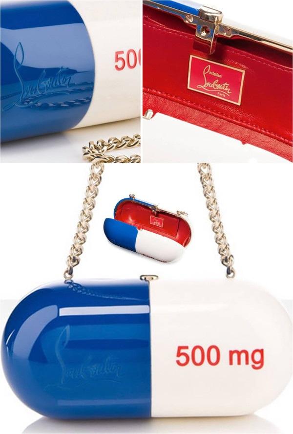 Paris | La Louboutin $ 7,000 Pilule Handbag     500mg de mode!
