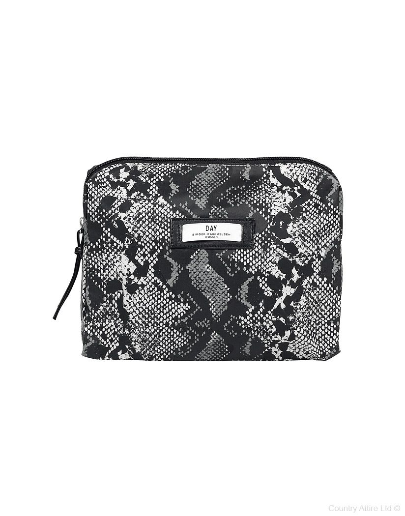 23cc3901558 #DAYBirger Ladies' Day Gweneth Printed Beauty Bag – Black and White Snake  Print #MonochromeLook #Bag
