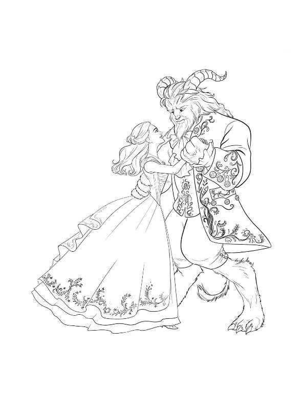 Coloring page Beauty and the Beast (2017): beauty and the ...