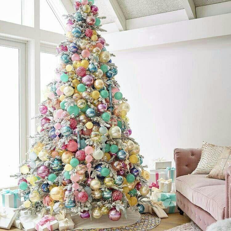 Sonhei E Desejei Arvore De Natal Em Candy Colors