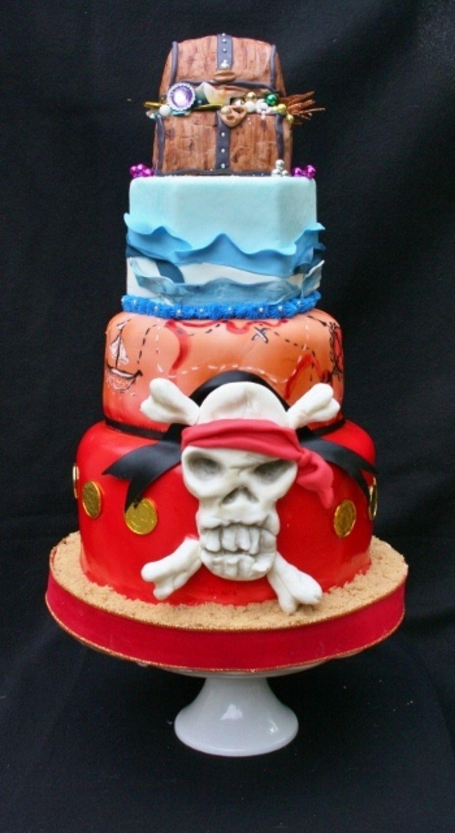 Pirate Treasure Cake Cake Pirate Cake How To Make Cake