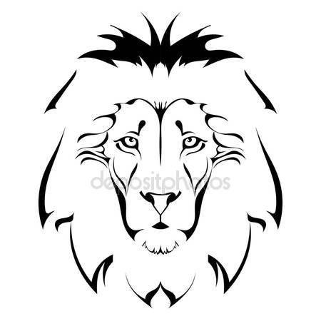 Indir Aslan Başı Dövme Stok Illüstrasyon 39098865 дизайники