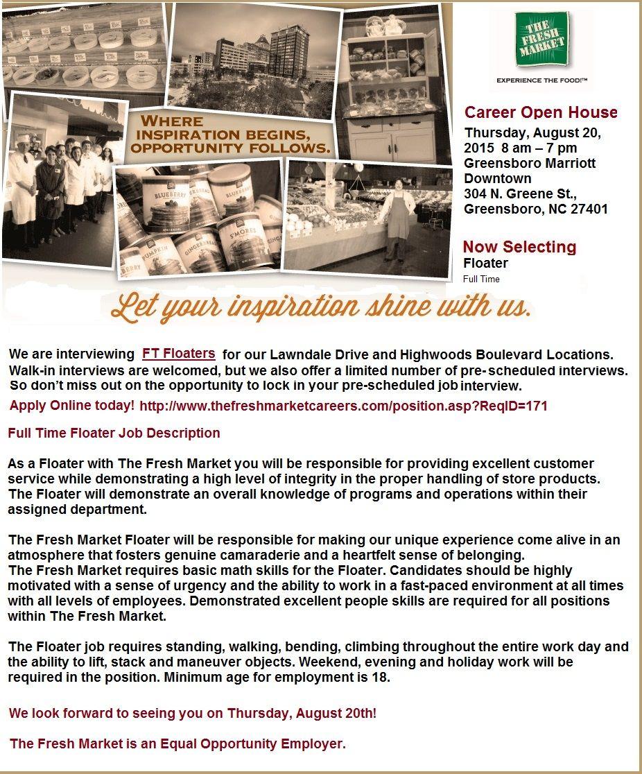 Floater Jobs in Greensboro, NC Clerk jobs, Greensboro
