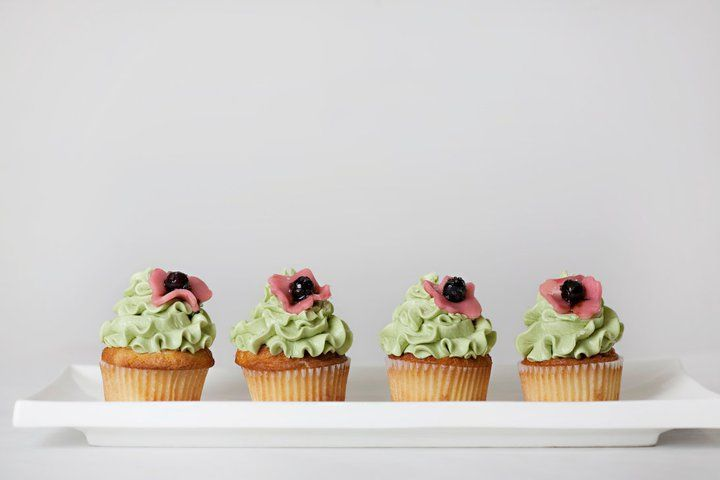 Almond Blueberry with Green Tea Cream Cheese Frosting