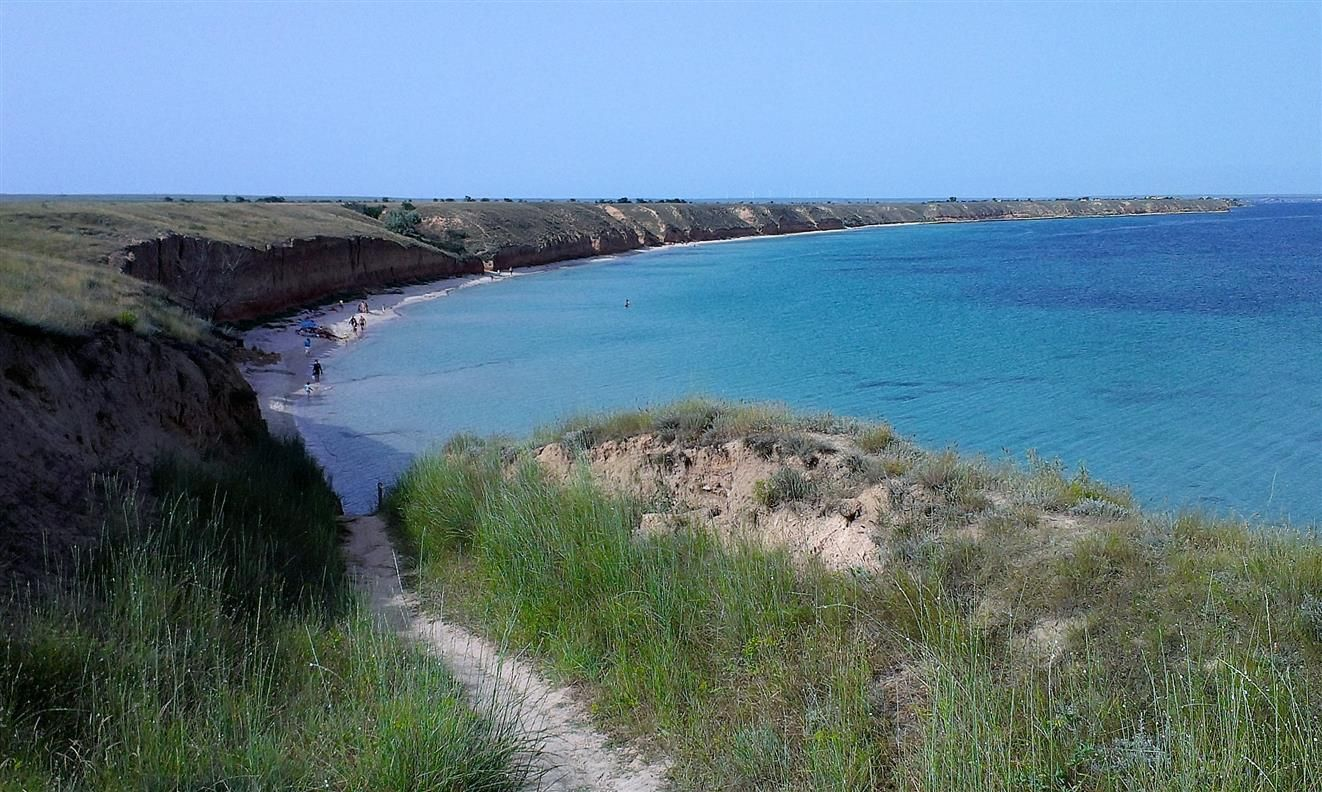 На пляже с. Марьино.