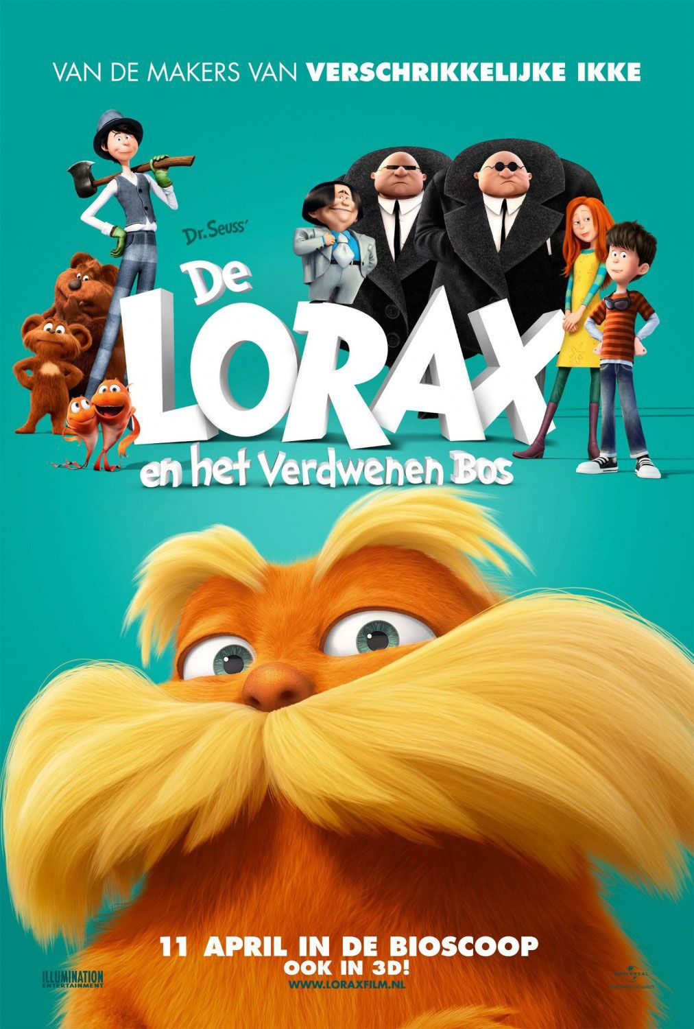 The Lorax , starring Zac Efron, Taylor Swift, Danny DeVito, Ed Helms. A 12-year-old boy searches for the one thing that will enable him to win the affection of the girl of his dreams. To find it he must discover the story of the Lorax, the grumpy yet charming creature who fights to protect his world. #Animation #Comedy #Family #Fantasy
