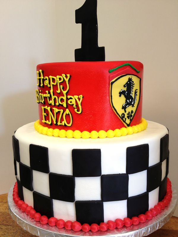 Eds Bakery Ferrari Themed Birthday Cake