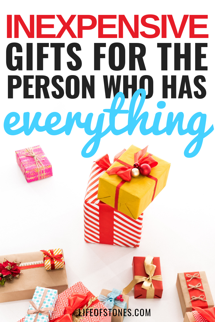 10 Frugal Gifts for someone who has everything Gifts for