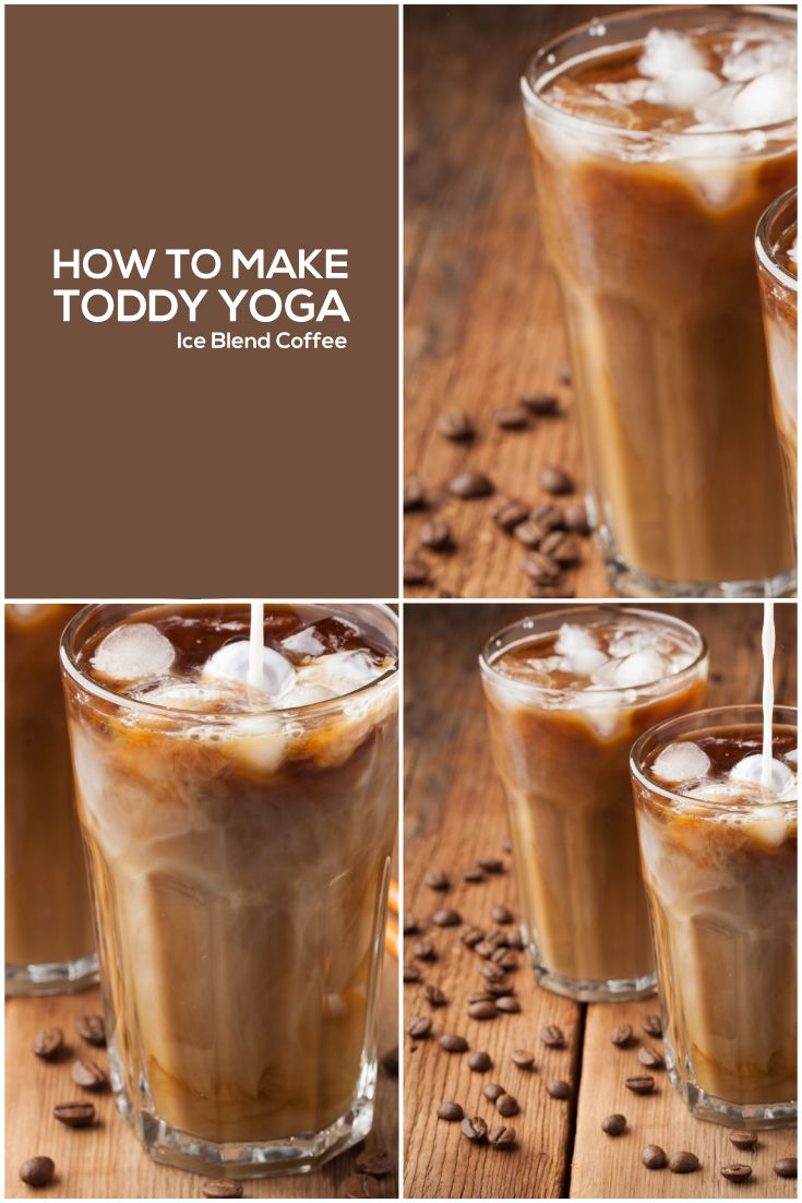 How to make toddy yoga ice blend coffee cold brew coffee
