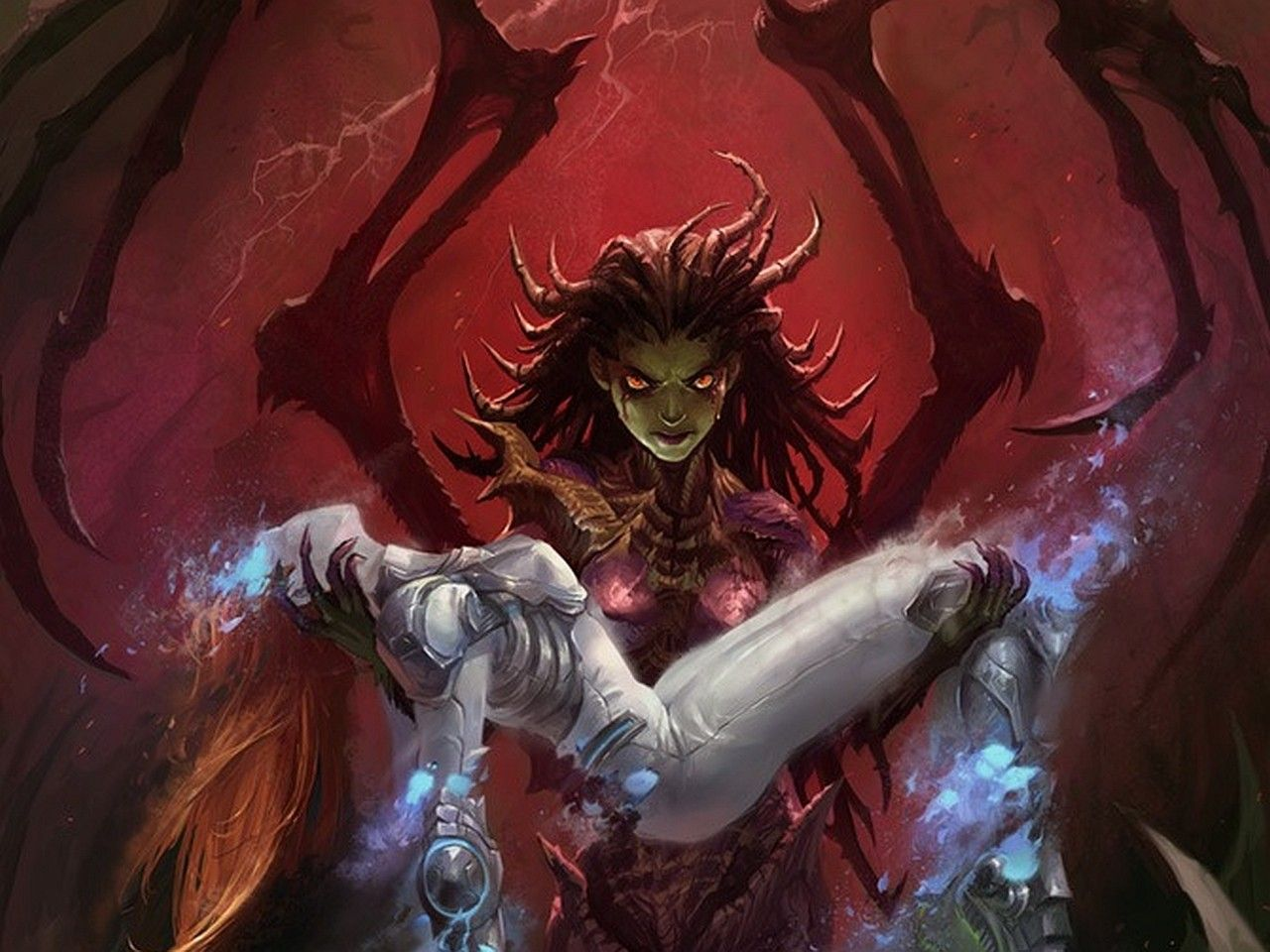 Starcraft fantasy art artwork sarah kerrigan queen of - Starcraft 2 wallpaper art ...