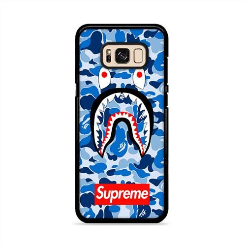 the best attitude db0f1 c29f1 Bape Camo Shark Supreme Blue Samsung Galaxy S8 Plus Case | Caserisa ...