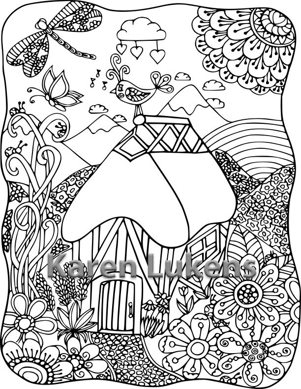 One of my Adult Coloring Book pages | Adult Coloring | Pinterest ...