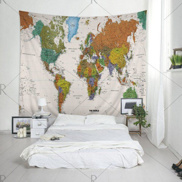 Wall hanging art decor world map print tapestry w79 inch l59 wall hanging art decor world map print tapestry w79 inch l59 inch hanging art and art decor gumiabroncs Images