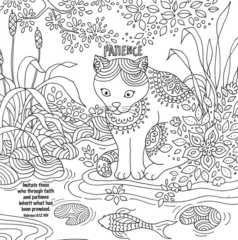 Cattitudes: Pure Purrrfection - Adult Coloring Book | Color Me Happy ...