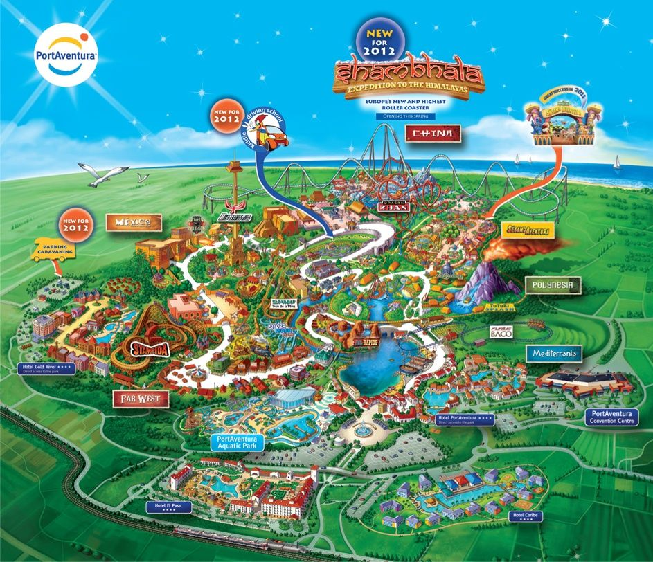 Download Your Own PortAventura Map Here AXOP Industries Inch - Reduction port aventura