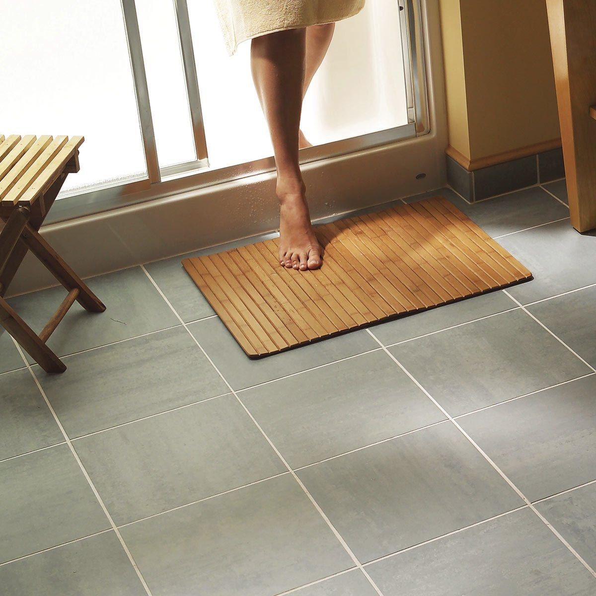 How To Install Ceramic Tile Floor In The Bathroom Tile Installation Ceramic Floor Tile Tile Floor