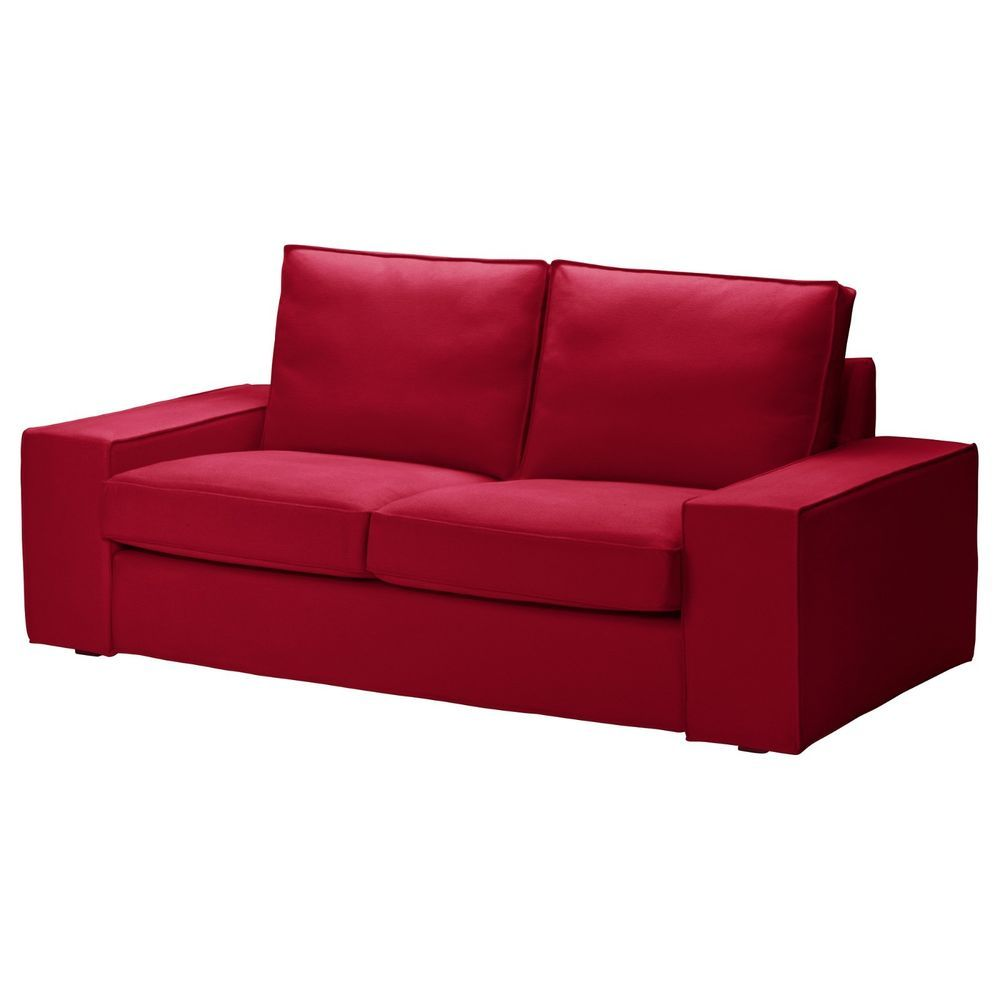 Ikea Kivik 2 Seat Sofa Cover Loveseat Slipcover Dansbo Medium Red 702 262 89 New Ikea Sofa Love Seat Loveseat Slipcovers