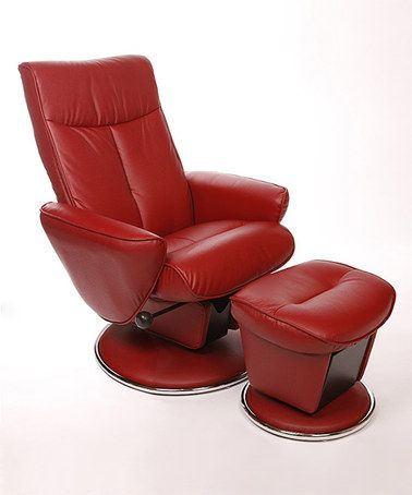 Another Great Find On Zulily Red Leather Selby Swivel Recliner